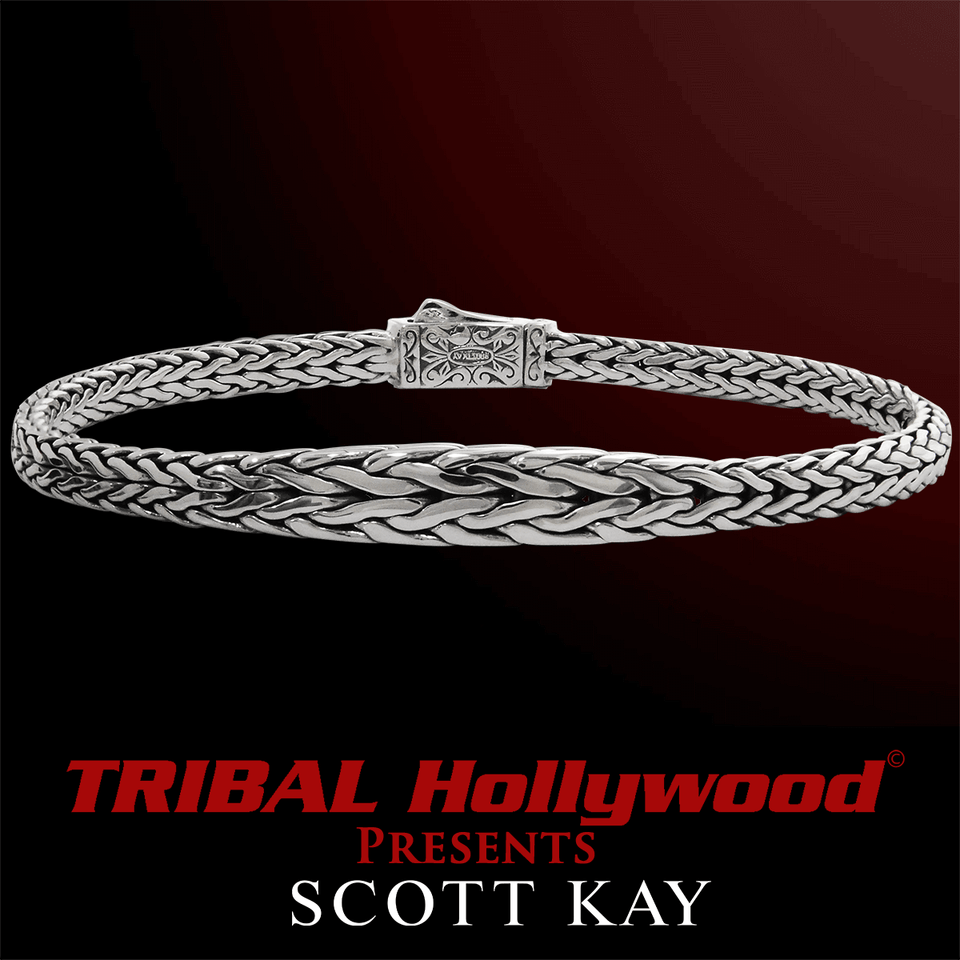 KODIAK Tapered Edge Thin Width Scott Kay Sterling Silver Bracelet