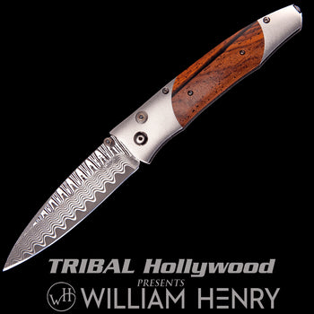William Henry GENTAC VERONA Cocobolo Wood Titanium Mens Pocket Knife