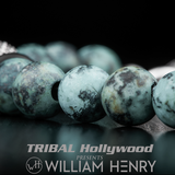 William Henry NASSAU Bead Bracelet African Turquoise and Frosted Onyx