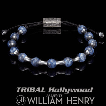 William Henry SUMMIT SODALITE Adjustable Bead Bracelet for Men