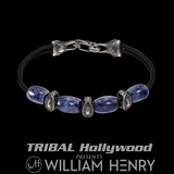 William Henry GALLANT SODALITE Blue Mens Paracord Bracelet with Silver