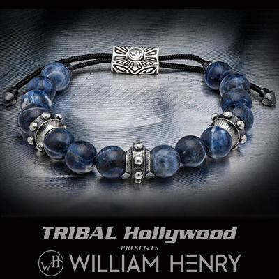William Henry DAUNTLESS BLUE SODALITE Bead Bracelet for Men