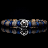 William Henry THE ADVENTURE Beaded Mens Bracelet with Wood and Stone