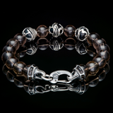 William Henry THE SMOKE Beaded Quartz Bracelet for Men