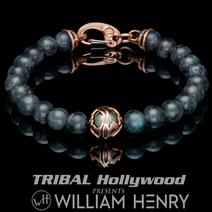 William Henry MOONLIGHT Bead Mens Bracelet with South Sea Pearl