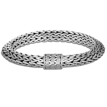 John Hardy Mens Tiga Chain Bracelet in Sterling Silver - 9.5mm Thick Width