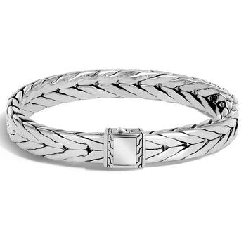 John Hardy Mens Modern Chain Sterling Silver Bracelet - 9mm Medium Width