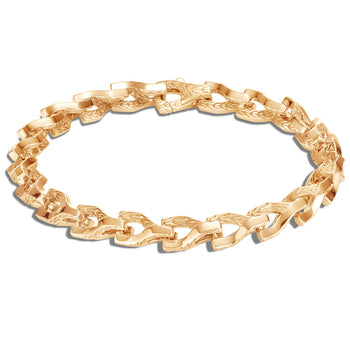 John Hardy Mens 18k Gold Asli Link 7mm Bracelet - Classic Chain Collection