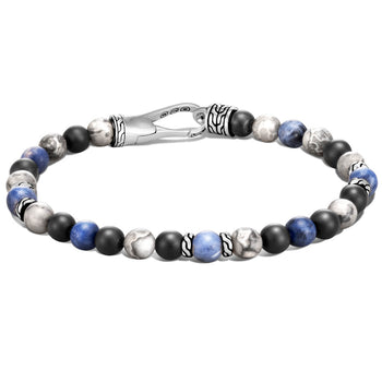 Sodalite Jasper and Onyx Bead Bracelet by John Hardy - Backside