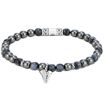 Hematite and Pietersite Bead Bracelet with Kerris Dagger by John Hardy