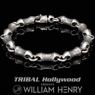 William Henry ORIGIN THICK WIDTH Sterling Silver Mens Link Bracelet