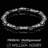 William Henry GENESIS DARK Sterling Silver Link Bracelet for Men