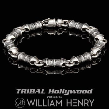 William Henry GENESIS LIGHT Sterling Silver Link Bracelet for Men