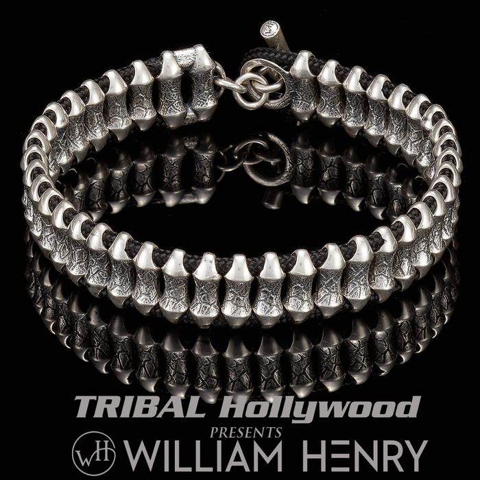 William Henry SURGE THIN Paracord and Sterling Silver Bracelet for Men