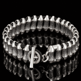 William Henry SURGE THICK Paracord and Sterling Silver Mens Bracelet