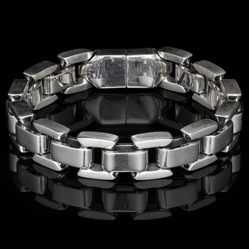 William Henry ARDENT Heavy Duty Sterling Silver Link Bracelet for Men