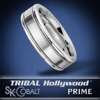 GAMMA PRIME Ring SK Cobalt Men's Wedding Band by Scott Kay