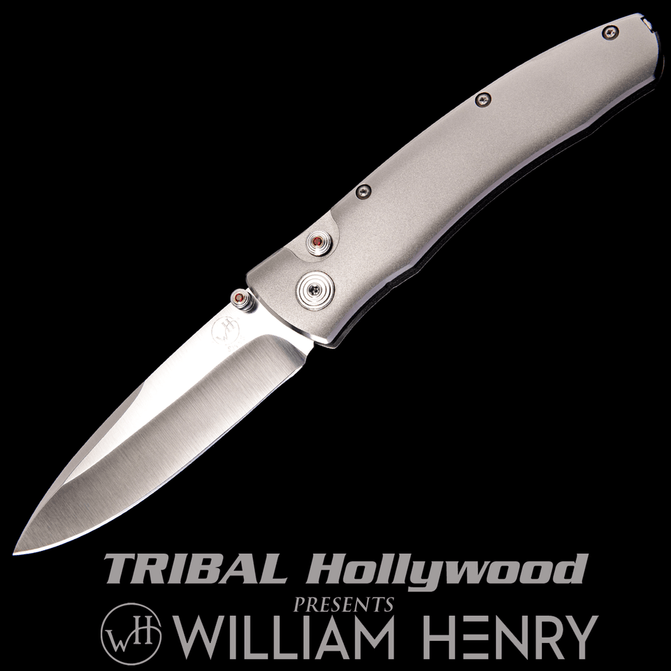 William Henry ROGUE BARRACUDA Aerospace Grade Titanium Pocket Knife