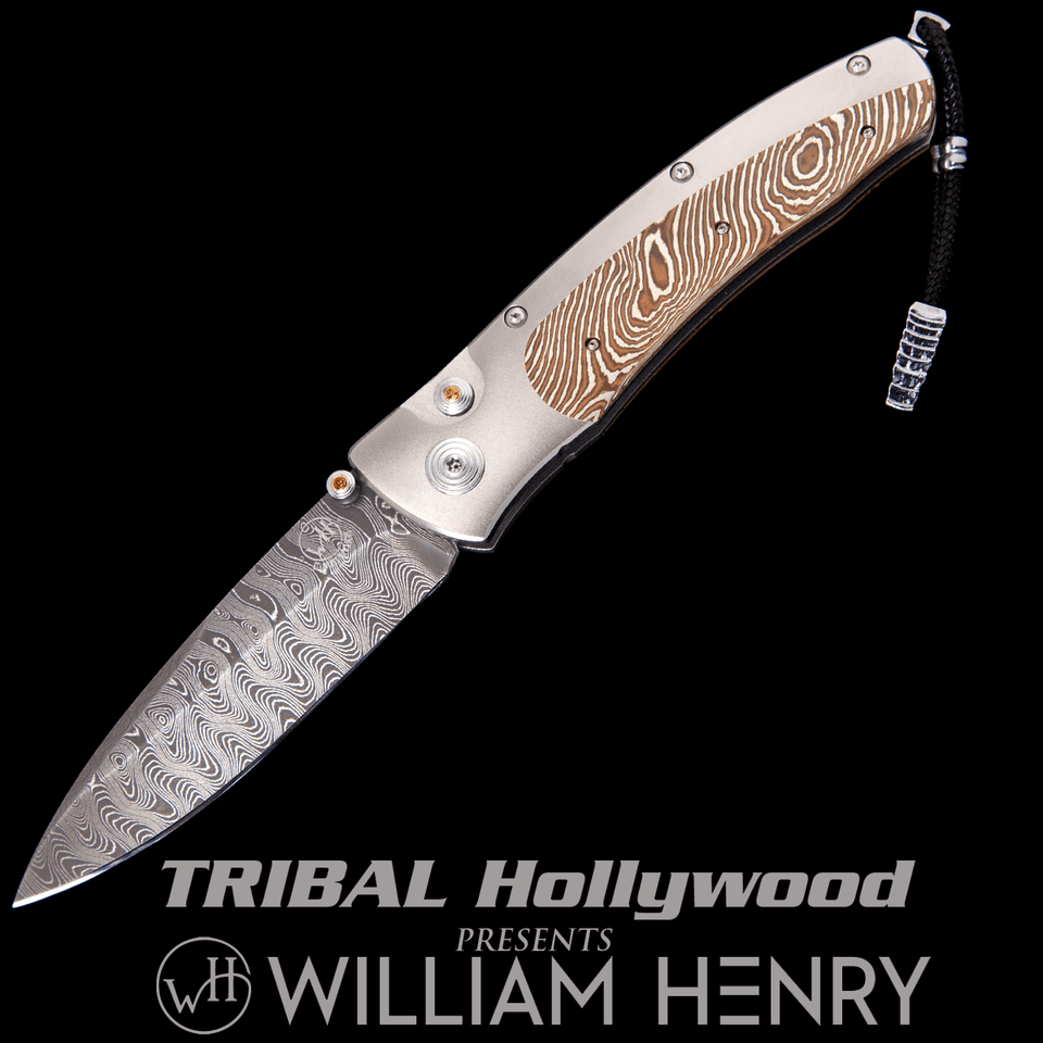 William Henry ROGUE MORAY Mokume Gane and Titanium Mens Pocket Knife