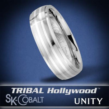 JOINED UNITY Ring SK Cobalt Men's Wedding Band by Scott Kay