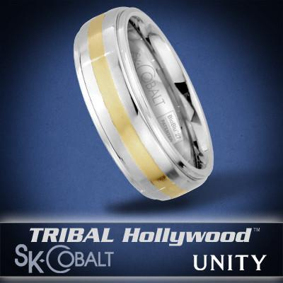 BOUND UNITY Ring SK Cobalt Men's Wedding Band by Scott Kay