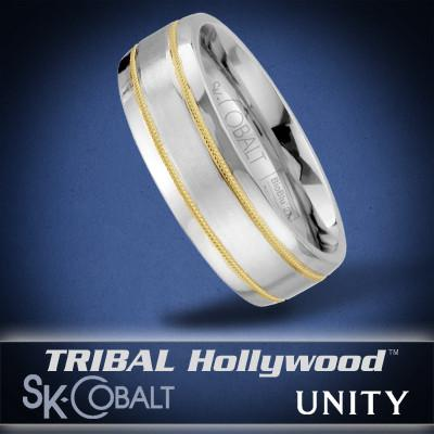 PARALLEL UNITY Ring SK Cobalt Men's Wedding Band by Scott Kay