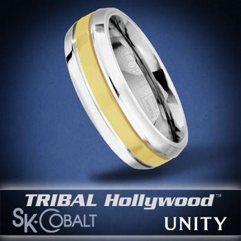 SOLE UNITY Ring SK Cobalt Men's Wedding Band by Scott Kay