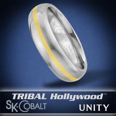 ONE UNITY Ring SK Cobalt Men's Wedding Band by Scott Kay