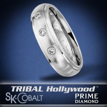 PRIME TRIPLE DIAMOND Ring SK Cobalt Men's Wedding Band by Scott Kay