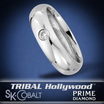 PRIME DIAMOND Ring SK Cobalt Men's Wedding Band by Scott Kay