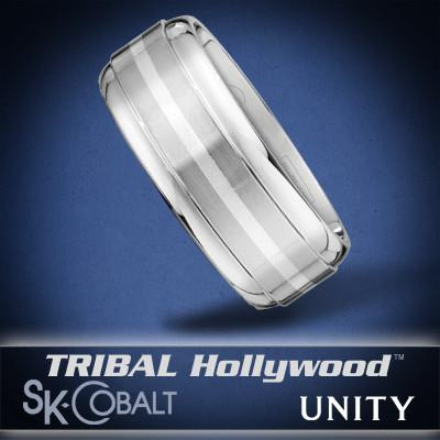 CONTINUOUS UNITY Ring SK Cobalt Men's Wedding Band by Scott Kay