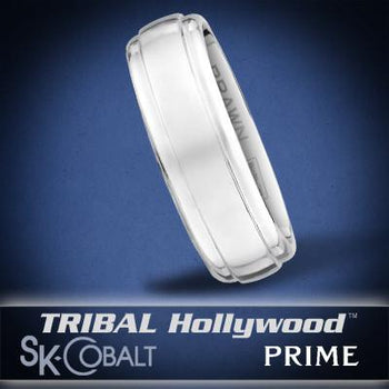 IOTA PRIME Ring SK Cobalt Men's Wedding Band by Scott Kay