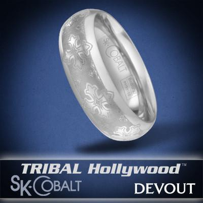 ROYAL CROSS DEVOUT Ring SK Cobalt Men's Wedding Band by Scott Kay