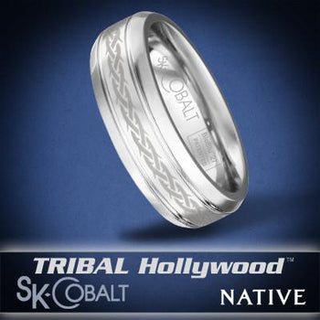 SACRED NATIVE Ring SK Cobalt Men's Wedding Band by Scott Kay