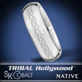 PROTECTED NATIVE Ring SK Cobalt Men's Wedding Band by Scott Kay