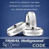TRADITIONAL CODE Ring SK Cobalt Men's Wedding Band by Scott Kay