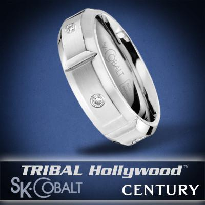 CENTURY DIAMOND Ring SK Cobalt Men's Wedding Band by Scott Kay