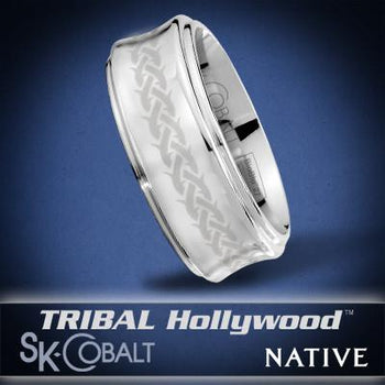 CROWN NATIVE Ring SK Cobalt Men's Wedding Band by Scott Kay