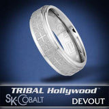 NOBLE CROSS DEVOUT Ring SK Cobalt Men's Wedding Band by Scott Kay
