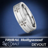 KNIGHT'S CROSS DEVOUT Ring SK Cobalt Men's Wedding Band by Scott Kay