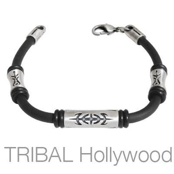 CATALYST Beaded Black Rubber Bracelet by Bico Australia