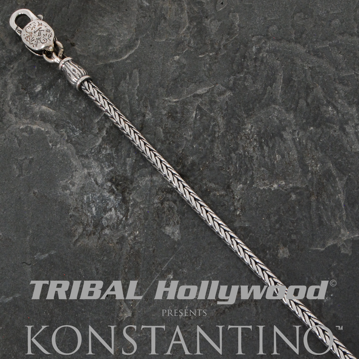 Konstantino SMALL HERRINGBONE STERLING SILVER Mens Necklace Chain