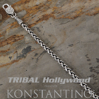 Konstantino WHEAT CHAIN Sterling Silver Mens Necklace Chain