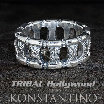 Konstantino GREEK TEMPLE Sterling Silver Mens Ring