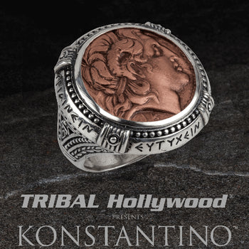 Konstantino ALEXANDER COIN RING Sterling Silver and Copper Mens Ring