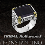 Konstantino BLUE TALISMAN RING in Sodalite and Silver with 18k Gold