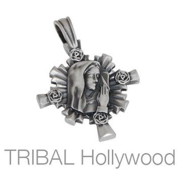 MARY The Virgin Mother Cross Pendant
