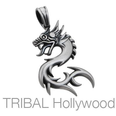 NUWA CHINESE DRAGON Pendant in Silver