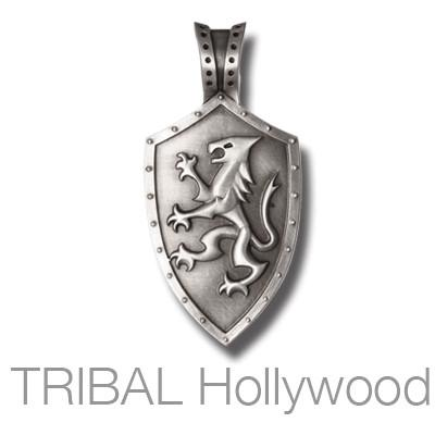 Knights shield lion rampant mens necklace pendant by bico knights shield lion rampant mens necklace pendant by bico australia front view mozeypictures Choice Image