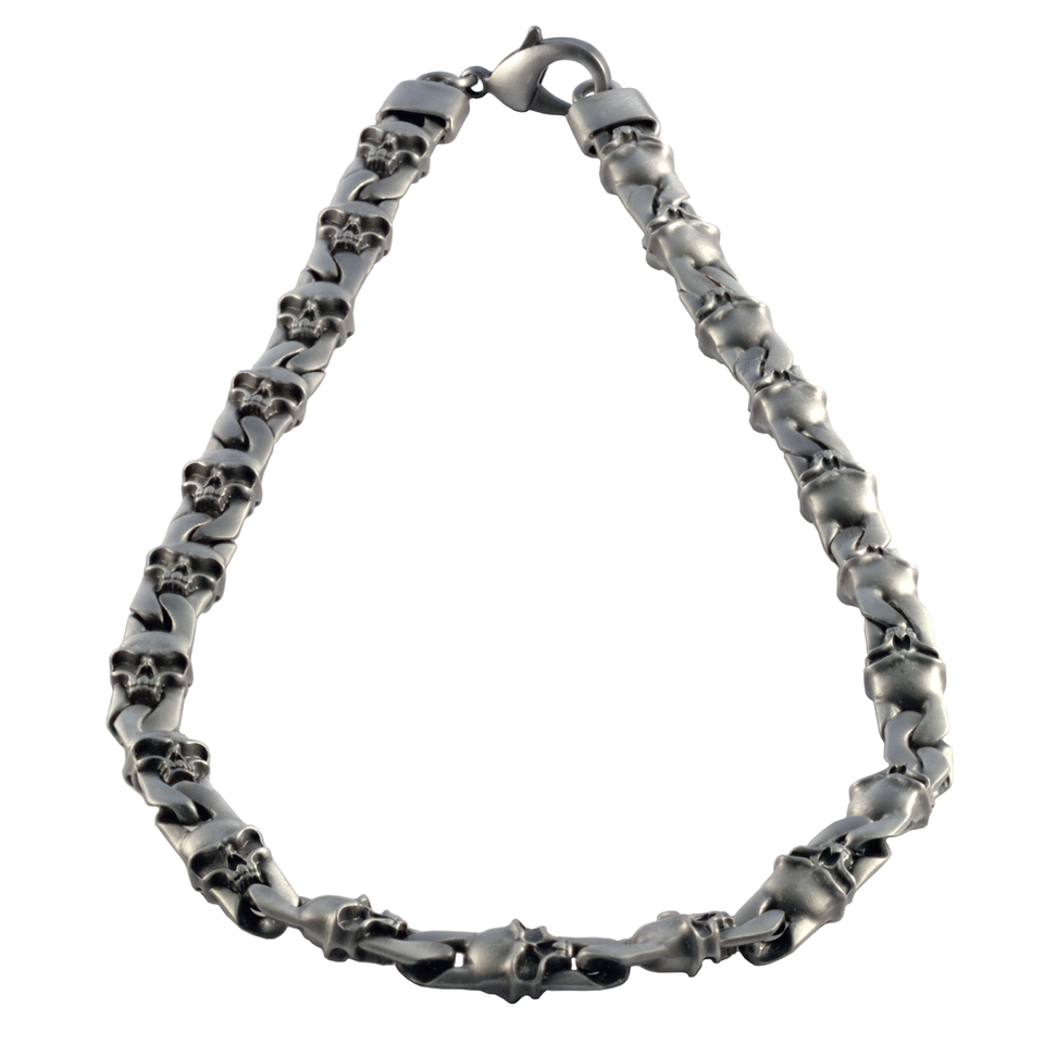 FIRE AND LIGHTNING Thick Width Skull Chain for Men by BICO Australia